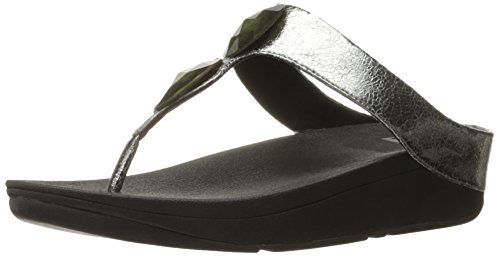 Fitflop Women's Pierra Open Toe Sandals Pewter qvO7KhN3