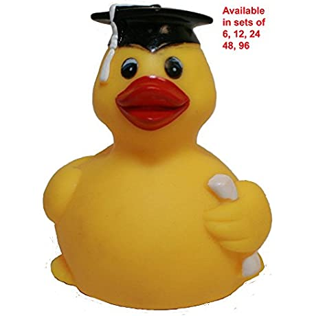Rubber Duck Family Graduation Rubber Duck Waddlers Brand Bulk Pack 6 12 24 48 96 Pcs Graduation Party Favors Gift All Depts Graduation Celebration Gift QTY 96