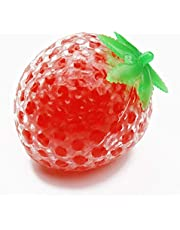 HuXwei 2pcs New Strawberry Watermelon Grape Ball Squishy Gel Antistress Straps Reliever Squeeze Vent Ball Gift Toy Fun-5
