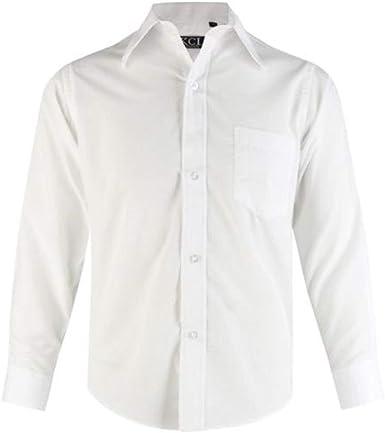 Camisa formal de manga larga para niños, perfecta para bodas, bautizos o cualquier celebración elegante o informal, de 5 a 15 años