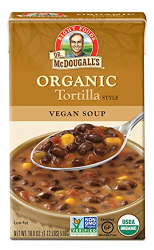 Dr. McDougall's Right Foods Organic Soup, Tortilla, 18-Ounce (Pack of 6) - Organic Tortilla Soup