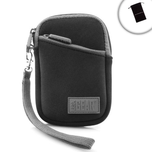 USA Gear Carrying Case for Apple iPod Touch / iPod Classic / iPhone 5 , 4s , 4 , 3gs with Earbud and Charger Storage , Protective Neoprene Design and Removable Wrist Strap