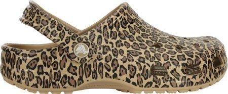 Crocs Classic Piel de leopardo Zueco Gold