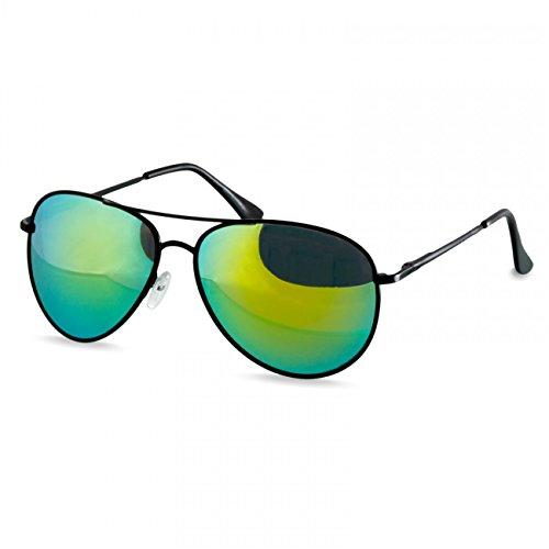 Caspar soleil charnières à Rétro de Miroir Noir ressort Doré SG013 Vert avec Lunettes Unisexe rq0trwx1