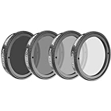 Neewer 4 Pieces Lens Filter Set for DJI Phantom 4/Phantom 3 Professional and Advanced, Not for Standard: Polarizer CPL Filter, ND16, ND32, ND64 Filter, Filter Carry Pouch
