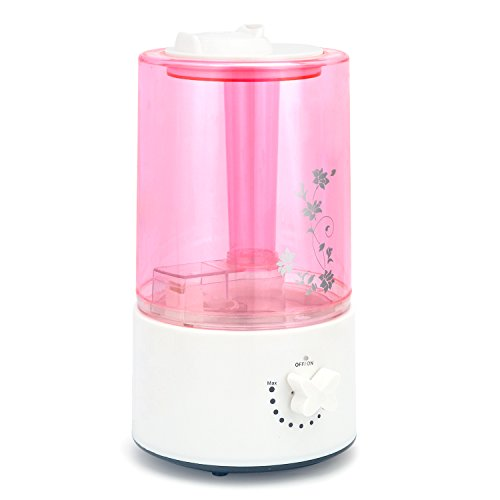 Whisper-Quiet Humidifier 2L Large Capacity Cool Mist Humidifiers with Two 360° Rotatable Mist Outlets. Ultrasonic Air Humidifier for Bedroom Babyroom Home Office, Auto Shut-Off, Easy to Clean - Pink by Youpeck