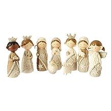 9-Piece Religious Faux Knit Children's First Christmas Nativity Set