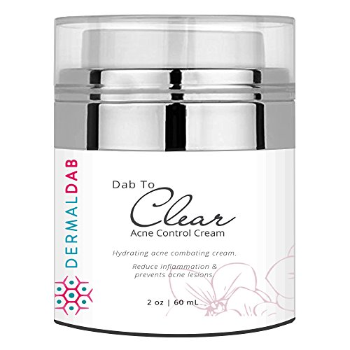 The BEST Wrinkle Cream For Oily Acne Prone Skin On Amazon! Control Shine, Blur Pores & Combat Acne with Non Irritating Ingredients - Salicylic Acid, Vitamin A, Licorice & More! Dab to Clear (1oz)