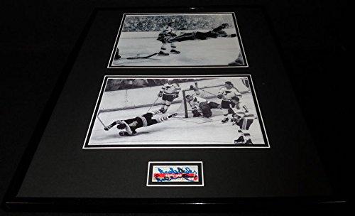 Bobby Orr Signed Framed 16x20 1970 Flying Goal Photo Display JSA Boston Bruins