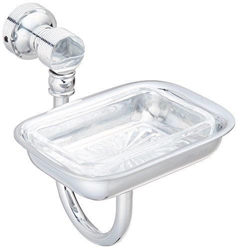 Satin Polished Soap Dish - Allied Brass FT-32L-PC Soap Dish Lucite, Polished Chrome