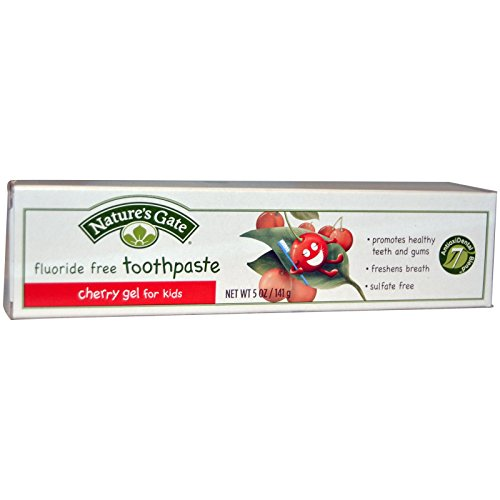 Nature's Gate, Fluoride Free Toothpaste, Cherry Gel for Kids, 5 oz (141 g)(pack of 3) (Toothpaste Natures For Gate Kids)