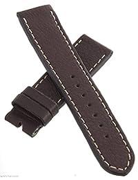 Elysee 22mm Brown Genuine Leather Watch Band Strap