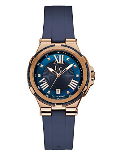 GUESS Women's Gc Navy Analog Sport Watch