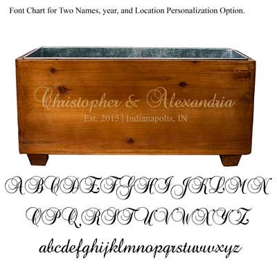 Personalized Engraved Wooden Wine Trough Alternative Party Ice