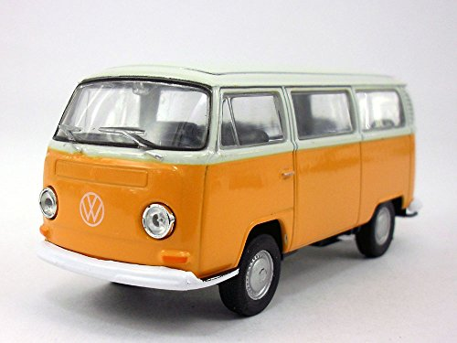 Toyota Van Models - Volkswagen - VW T2 (Type 2) 1972 Bus 1/38 Scale Diecast & Plastic Model - YELLOW