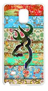 777Life Protective Phone Case Cover for Samsung Galaxy Note4 Rainbow Browning Watercolor Cases