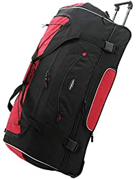 "36"" ADVENTURE Travel Rolling Duffle Bag, Red"