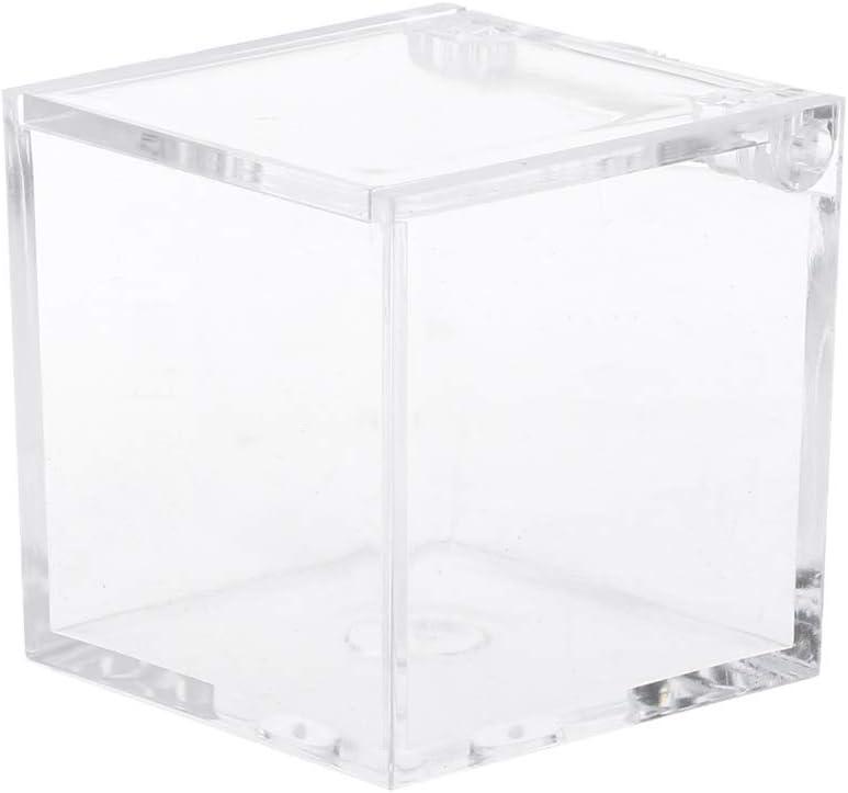 YO-HAPPY Caja de Almacenamiento Transparente Cuadrada Decoración ...