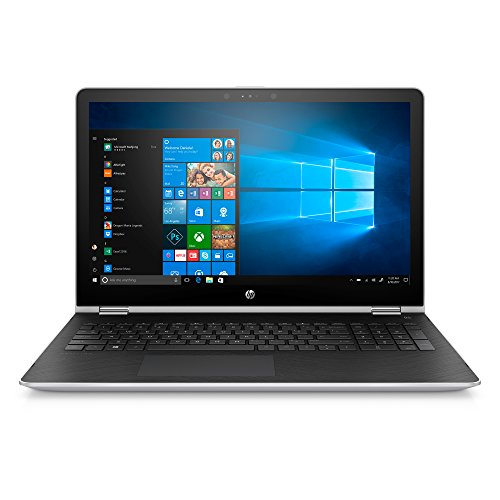 HP Pavilion x360 15-inch Convertible Laptop with Stylus Pen, Intel Core i5-7200U, 8GB RAM, 1TB hard drive, Windows 10 (15-br055nr, Silver)