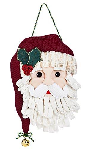 Evergreen Flag Santa Outdoor Safe Felt Door Decor