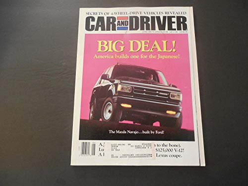 Car And Driver Jun 1991 4 Wheel Drive; Mazda Navajo; Lexus Coupe; V-12