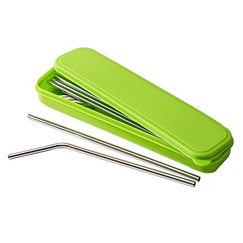 Mudder 8 Pack Stainless Steel Drinking Straws With