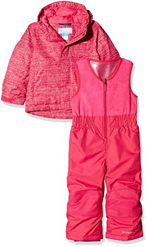 Columbia Kid's Buga Set Ski Jacket, Cactus Pink Texture Print, 4T