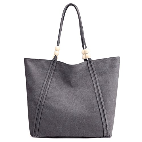 Handbag Bag Casual Big Inch Art JPFCAK Bag Fashion Casual Shoulder Shopping Bag 13 Computer Gray Canvas Ladies Bag FqpAgX