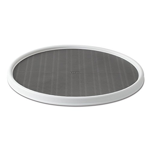 Copco 255-0186 Non-Skid Pantry Cabinet Lazy Susan Turntable, 18-Inch, White/Gray