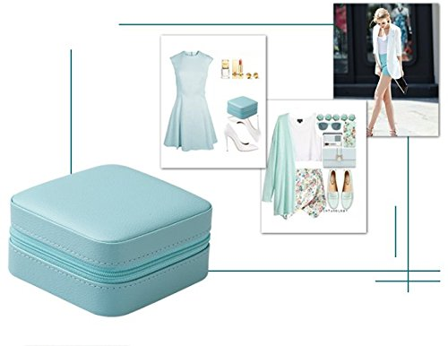 Vlando Small Portable Travel Jewelry Box Easy Home Organizer