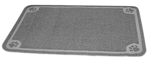 Internet's Best Cat Litter Mat | 47 x 32 | Oversized (XL) | Kitty Litter Mat and Trap | Crystal Catcher Mat and Scatter Control | Soft Paw Touch | Gray Review