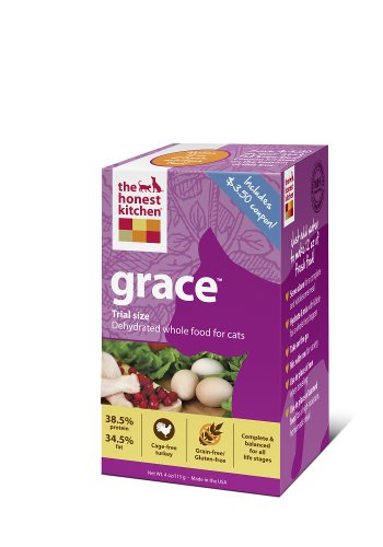 The Honest Kitchen Grace Grain-Free Dehydrated Cat Food, 4-Ounce Trial, My Pet Supplies