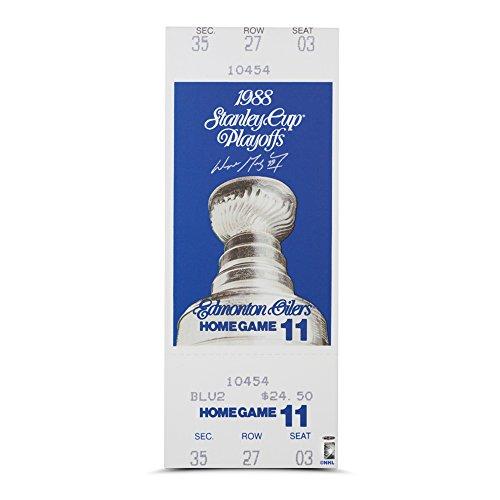 Wayne Gretzky Autographed 1988 Stanley Cup Game 5 Canvas Mega Ticket