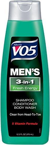 VO5Men's 3-in- Shampoo Conditioner Body Wash Fresh Energy (Pack of 10) by Alberto VO5