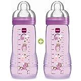 330ml Botella MAM bebé de color Segunda Edad De 6 Meses Tetina de flujo X Juego