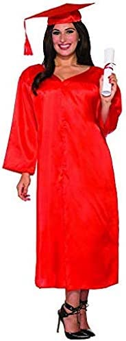 Red Forum Graduation Costume Robe Adult Costume Standard