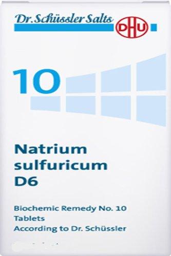 Dhu Dr. Schuessler Salts 10 Natrium Sulfuricum D6 Detoxification Excretion Of Fluids 200 Tabs (Tabs 200 Liver)