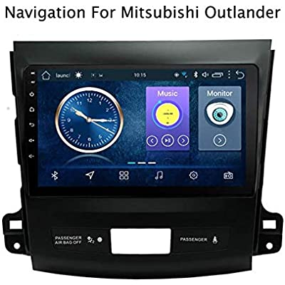 Android 8 1 GPS Navigation Systems car with Ultrathin multimedia player for Mitsubishi Outlander 2006-2012 Bluetooth AUX USB Steering wheel control Mirror Llink 4G WIFI 2 32G WithoutCanbus