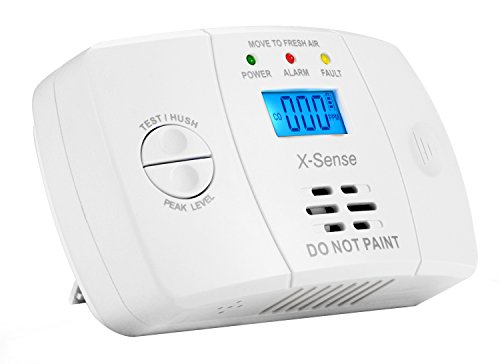 X-Sense Kohlenmonoxidmelder CO Melder Carbon Monoxide CO Detector mit Digitaler Anzeige, Batteriebetrieben