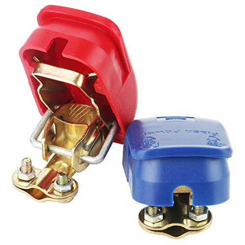 TOOHUI 2Pcs Battery Quick Release Connectors Battery Quick Disconnect Terminals Battery Terminals Clamps Boat/Truck/Car/Van ()