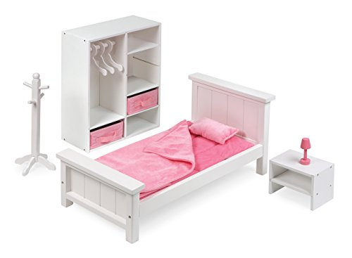 Badger Basket 13 Piece Bedroom Furniture Play Set for 18 Inch (fits American Girl Dolls), ()