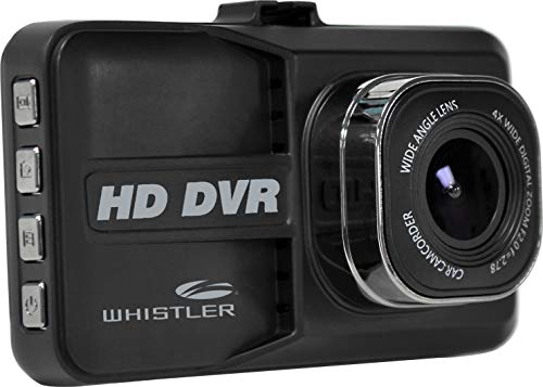 Whistler D14VR Automotive DVR Windshield Mount Dash Camera with LCD Monitor, 1080p HD, 3""