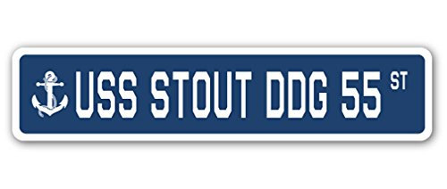 USS Stout DDG 55 Street Sign us Navy Ship Veteran Sailor Gift