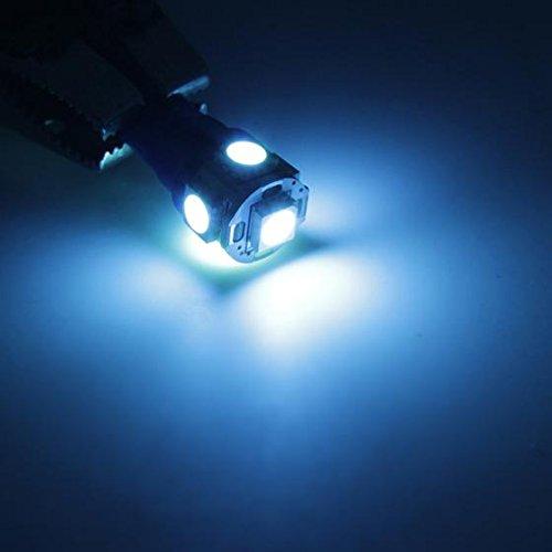 Twist Lock Socket Partsam 8Pcs Ice Blue T10 Instrument General Panel Gauge LED Light Bulb