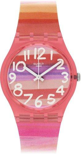 Swatch GP140 ASTILBE – Reloj Analógico de Cuarzo para Mujer con Correa de Plástico