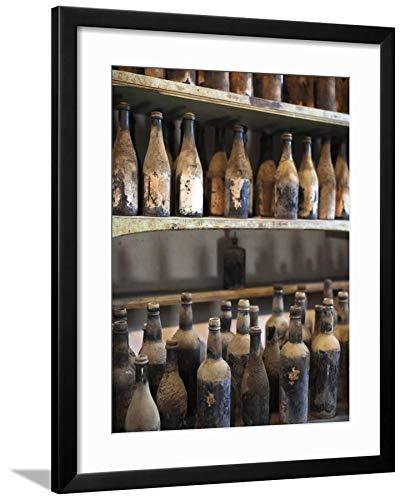 ArtEdge Antique Sherry Jars, Bodegas Gonzalez Byass, Jerez De La Frontera, Spain by Walter Bibikow, Black Matted Wall Art Framed Print, 24 x 18'