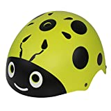 LANOVAGEAR Boys Girls Ladybug Cycling Multi-Sport Safety Bike Skating Scooter Helmet (GREEN, S)