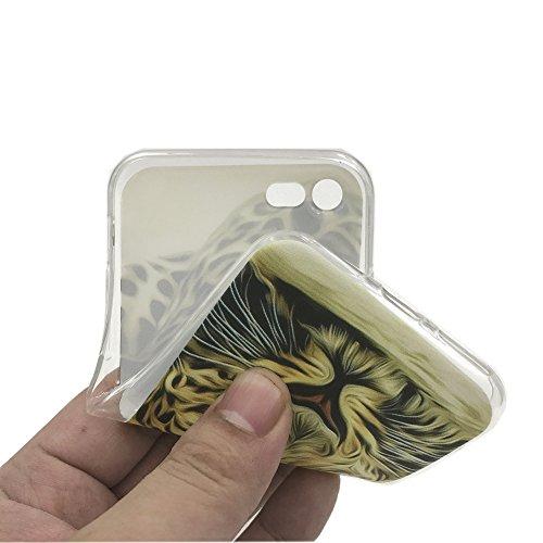 Funda iPhone 8,EUDTH Suave TPU Gel Funda Case Delgado Silicona Fundas Carcasa Espalda para iPhone 7/iPhone 8 (4.7 Pulgadas) Panda Tigre