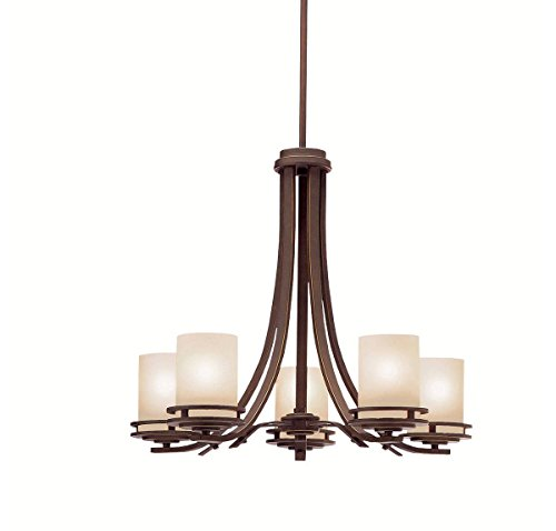 Kichler Lighting 1672OZ 5-Light Hendrik Incandescent Chandelier, Old Bronze Old Bronze Finish Chandeliers