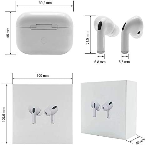 Wireless Earbuds Bluetooth 5.0 Headphones 3D Stereo CVC8.0 Noise Canceling True Wireless Earbuds with Fast Charging Case,One-Step Pairing for iPhone/Samsung/Android Apple AirPods Pro Earphones 41zOINBmoFL